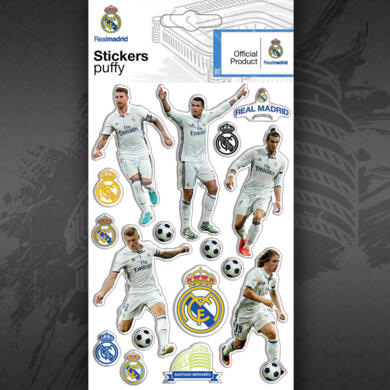Real Madrid adesivo puffy Giocatori