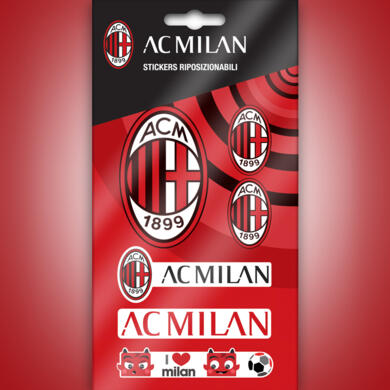 Milan mini stickers graphics logo