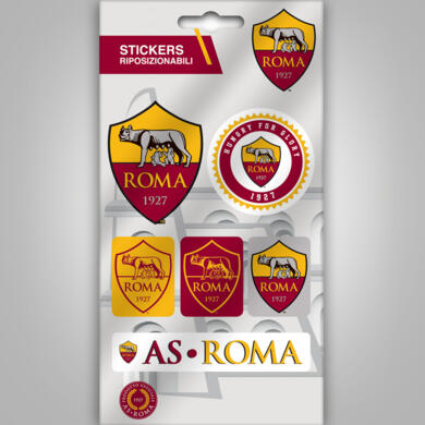 Roma mini stickers graphics logo