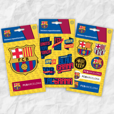 Barcelona three mini stickers