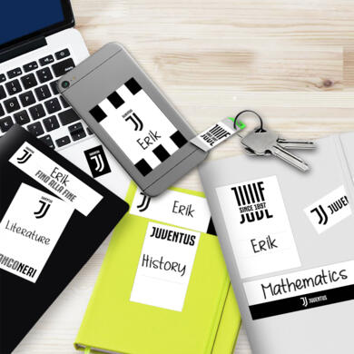 Juventus sticky labels Logo for school
