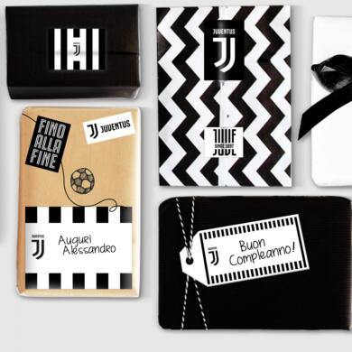 Juventus sticky labels for gifts