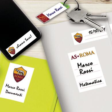 Roma sticky labels for school