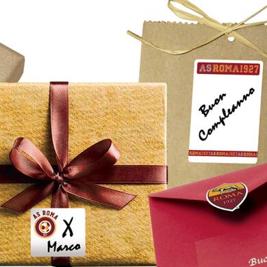 Roma sticky labels for gifts