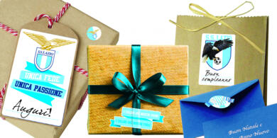 Lazio sticky labels for gifts