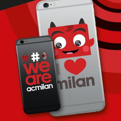 Milan mini stickers devil for smartphone