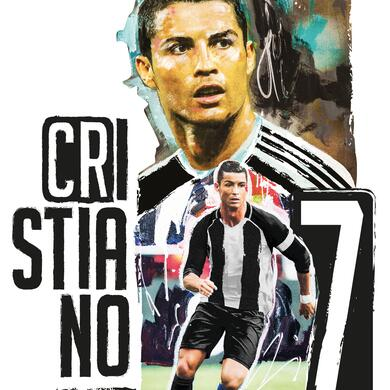 Cristiano Ronaldo mini sticker figura intera