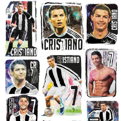 Cristiano Ronaldo mini stickers quadrotti