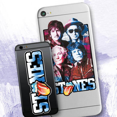 The Rolling Stones by Sid Maurer sticker for mobile