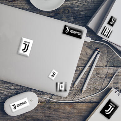Juventus 3D puffy stickers logos