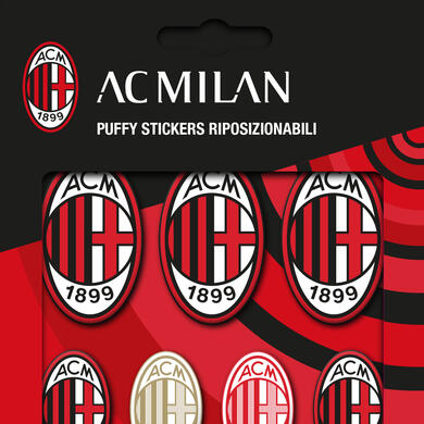 Milan 3D puffy stickers logos