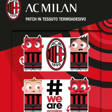 Milan patch in textile thermo adhesive Graphics