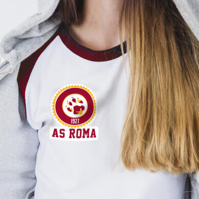 Roma patch in PVC thermo adhesive Wolfprint
