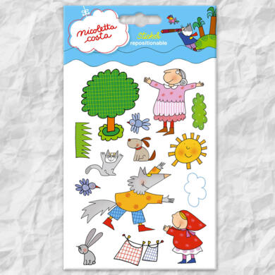 Nicoletta Costa mini stickers Little Red Riding Hood