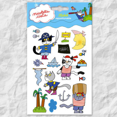Nicoletta Costa mini stickers Pirates
