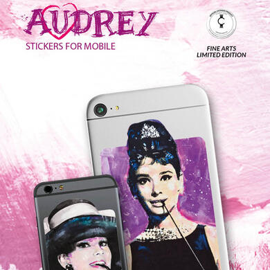 Audrey Hepburn - sticker for mobile