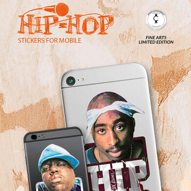 Tupac & The Notorious B.I.G. by Sid Maurer adesivo per cellulare