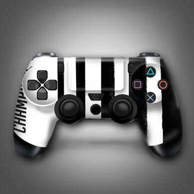 B&W stickers for PS4 controller