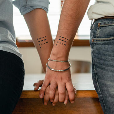 Tattoo Morse code words