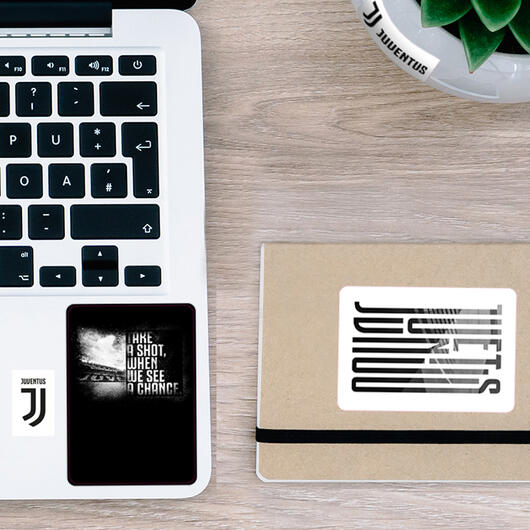 Juventus mini stickers transparent graphic