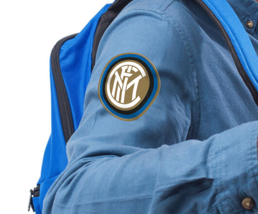 Inter patch in textile thermo adhesive Logo